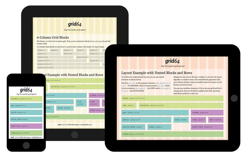 Responsives Webdesign mit Grid64.com