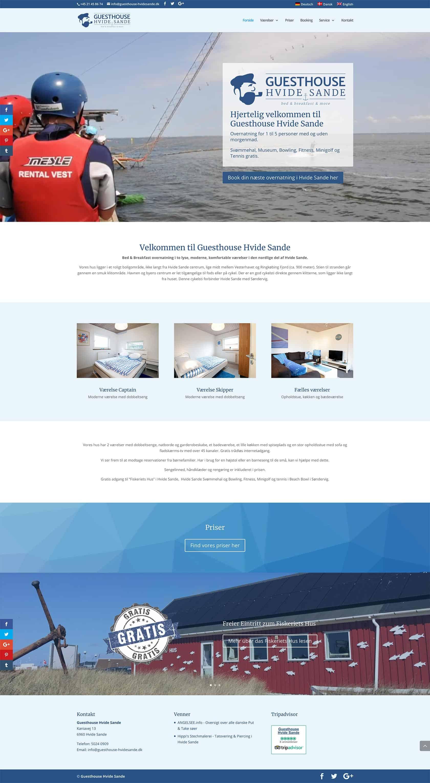 Website - Guesthouse Hvide Sande
